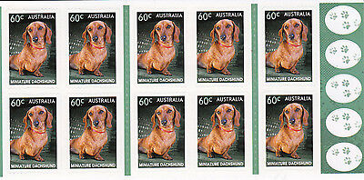Australia 2013 mint unhinged booklet DOGS- DACHSHUND