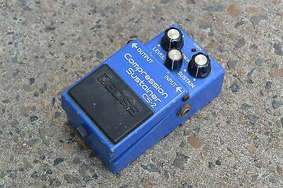 1985 Boss CS-2 Compression Sustainer Compressor MIJ Vintage Effects Pedal w/Box