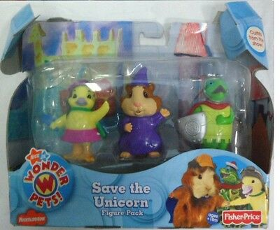 Wonder Pets Save the Unicorn Figure Pack set of 3 NEW Ming Ming Lenny Tuk Term