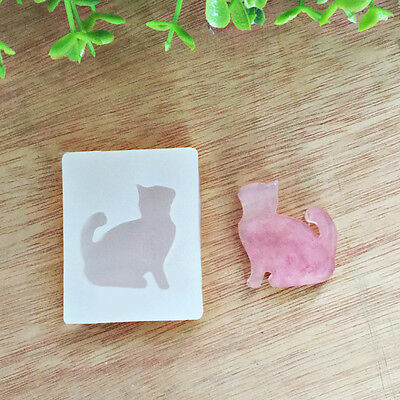 Cat Silicone Pendant Mold Making Jewelry Pendant Resin Casting DIY Mould craft