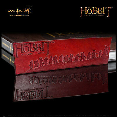 WETA The Hobbit Thorin's Company Leather Bookmark NEW IN STOCK