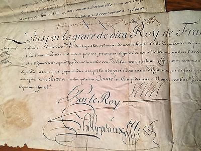 Louis XIV and three other French documents