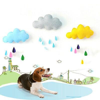 1 Set Color Wall Decor Cloud Raindrop Shape for Baby Nursery Room Home Ornament