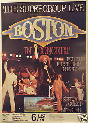 Boston Concert Tour Poster 1979 Don't Look Back