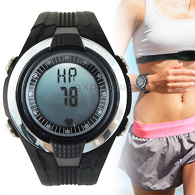 Heart Rate Monitor Pedometer Wireless Watch Fitness Belt Sport Calorie Counter