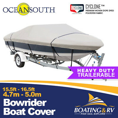 4.7 - 5.0m Oceansouth Bowrider Boat Cover Towable Heavy Duty Cyclone Fabric