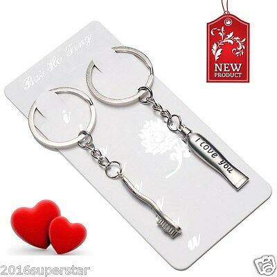 Dental Dentist Keychains Toothbrush Toothpaste Key Ring Dental Gift Hot Lovers