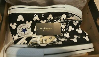 Mickey Mouse x Converse High Top Sneakers Shoes Tokyo Disney Sea Japan SIZE 9 US