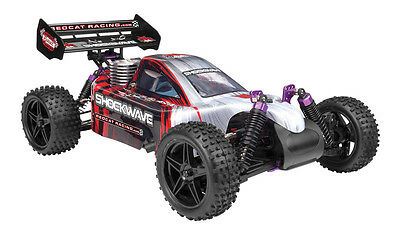 Redcat Racing Shockwave 1/10 Scale Offroad Racing 4WD Nitro Buggy RC Car RTR Red
