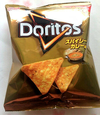 Fritolay DORITOS Japan LIMITED edition unique snacks  SPICY CURRY flavor chips