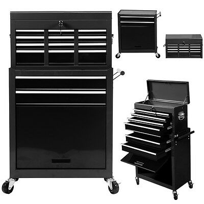 Portable Top Chest Rolling Tool Storage Cabinet Organizer 6 Sliding Drawers New