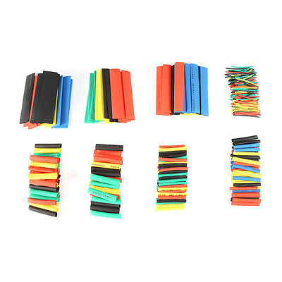 328Pcs  2:1 Ratio Polyolefin Heat Shrinkable Tubing Sleeving Wrap Cable Kit New