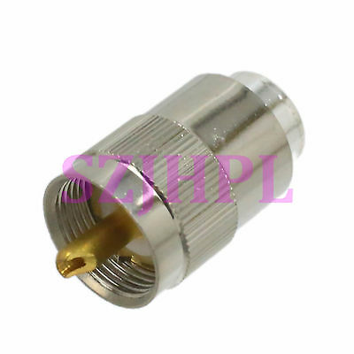 1pce UHF male PL259 plug straight solder for RG-8X RG8X LMR240 cable connector