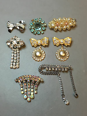 Lot Of 8 Antique Vintage Russian Brooches