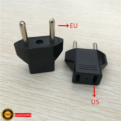 2PCS US to Euro Conversion Plug Adapter American European Travel Adapter Charger