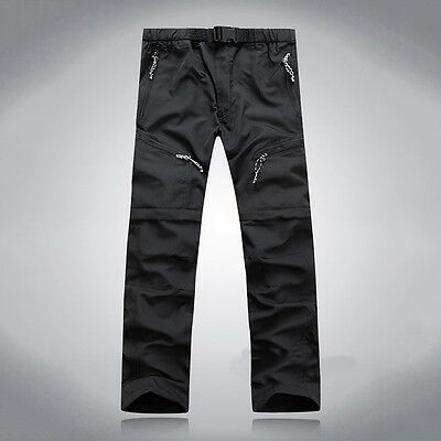 Men Quick-drying Pants Outdoor Camping Hiking Breathable Trousers Detachable