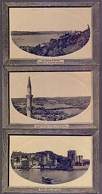 A80,turkey,constantinople,3 Old Postcards Lot,faults,ships Architecture