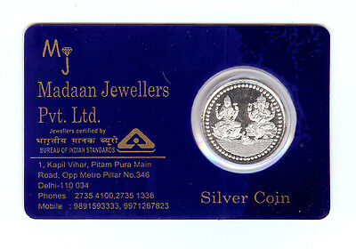 5 Grams Pure 999 Hallmarked Ganesh Lakshmi Ji Silver Coin in Laminated Packing