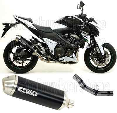 Arrow Kit Muffler Exhaust Racetech Aluminium Black Kawasaki Z-800 E 2013 13
