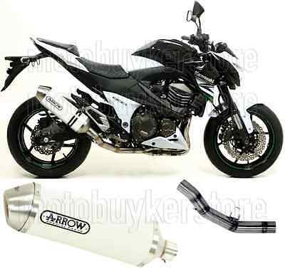 Arrow Kit Muffler Exhaust Racetech Aluminium White Kawasaki Z-800 E 2014 14
