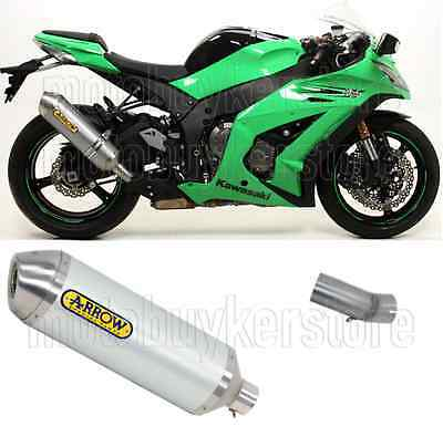 Arrow Kit Muffler Exhaust Racetech Aluminium Kawasaki Zx-10R 2011 11 2012 12