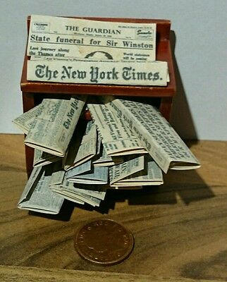 DOLLS HOUSE NEWSPAPERS -  Guardian, Observer, New York Times classics 10 in set