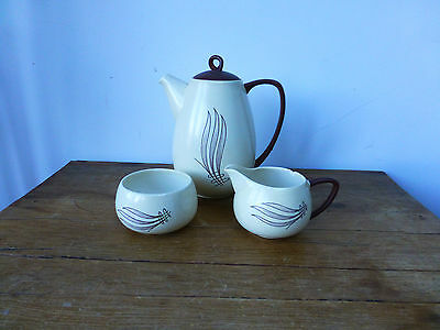 Carlton Ware Australian Windswept - teapot milk jug and sugar bowl