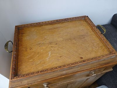 Vintage Oak Serving Tray WWI  Made by ex Servicemen - St Dunstan's Army Hospital