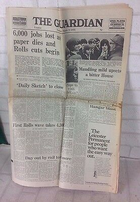 Vintage March 9th 1971 The Guardian Newspaper Advert Decoupage Gift