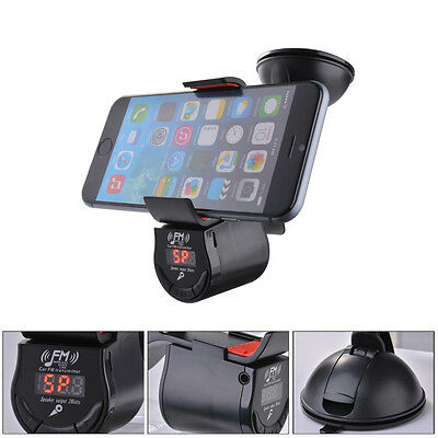 Multifunctional Handsfree Car Mount Holder With FM Transmitter for iPhone AC588