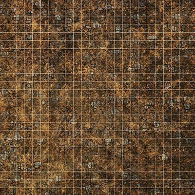 """Mat for D&D roleplay dungeons & dragons Pathfinder 2ftx2ft PVC with 1"""" Grid"""