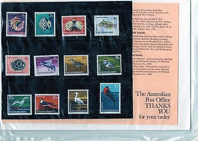 1969 Cocos (Keeling) Islands Definitive's Set Of 12 Japanese Text Stamp Pack, GC
