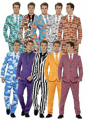 Mens Stand Out Suits Fancy Dress Costume Outfit Stag Do Party Comedy Funny Joke