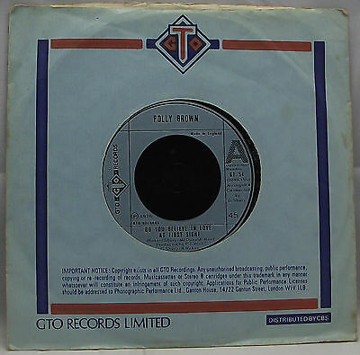 """POLLY BROWN : DO YOU BELIEVE IN LOVE AT FIRST SIGHT 7"""" Vinyl Single 45rpm EX"""