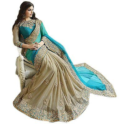 Pakistani Indian Bollywood Ethnic Designer saree Bridal Traditional New sari 234