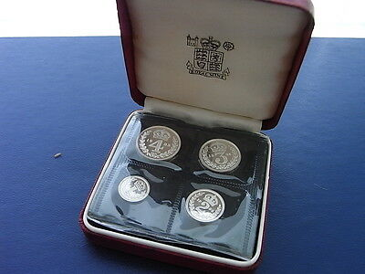 Elizabeth II 1985 Maundy Set, UNC, with box