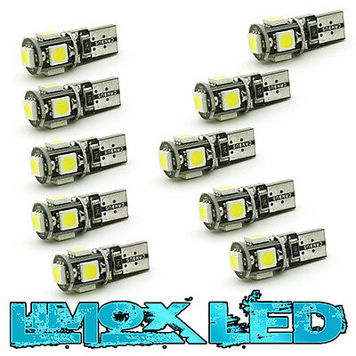 10X 12V DC 5 SMD LED T10 w5w Canbus Lampe white Glassockel Innenraum Beleuchtung