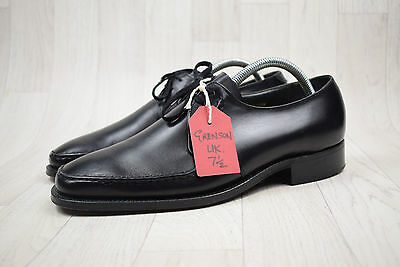 Men's Vintage Grenson Made In England Black All Leather Shoes Size UK 7.5 FX