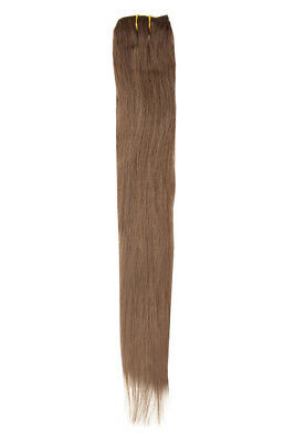 """American Pride Single Weft Clip in Hair (6clips/20g) 18"""" Warm Brown 6"""