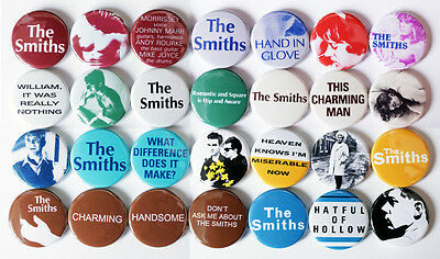The Smiths 1983-1984 - 28 Quality Pin / Button Badges (New Wave/Indie/Morrissey)