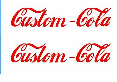 Cola Soda Decal CUSTOM FONT OR LOGO Advertising Machine Energy Drink Soft