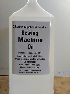 2 1/2 Ltr   SEWING MACHINE AND OVERLOCKER OIL WATER WHITE  BRITISH MADE PRODUCT