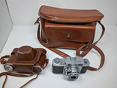 "Ricoh ""35"" 35mm Film Rangefinder Camera W/ Case - 1950's Photographer owned"