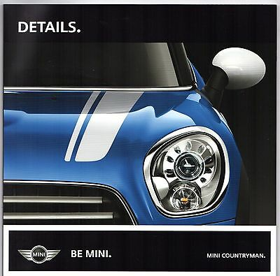 Mini Countryman Specification 2011 UK Market Sales Brochure One Cooper S D All4