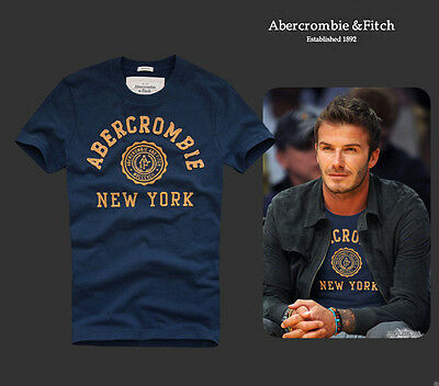 New mens T shirt Abercrombie & Fitch tee by Holister BLUE size S M L XL XXL