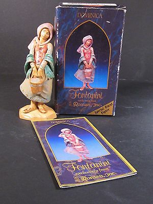 "Roman Fontanini DOMINICA  5"" Nativity With Box & Story Card  Special Event Piece"