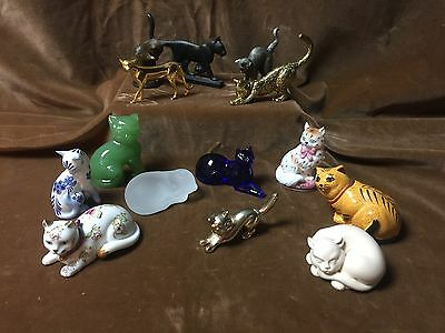 Franklin Mint Cats, 14 Different