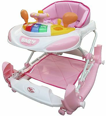 Bebe Style F1 Racing Car Walker and Rocker (Deluxe Pink) New