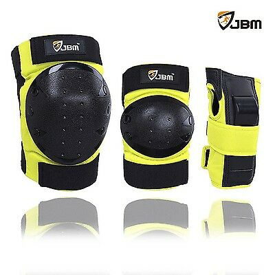 JBM Adult / Kids Child Youth Knee Pads Elbow Pads Wrist Guards Protective... New