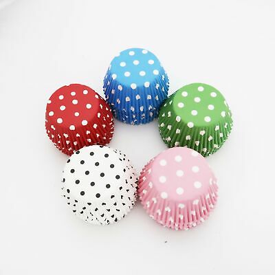 Standard Size Polka Dot Cupcake Liner Cups Red Pink Blue Green 100PC 200PC 400PC